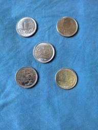 Moedas de 1 Centavo 1992/94/96