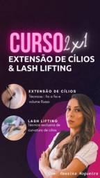 Curso extensão de cílios + lashlifting em João Pessoa