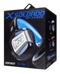 Fone de Ouvido Headset Gamer X Soldado GH-X1800 - Infokit