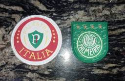2 escudos bordados do Palmeiras