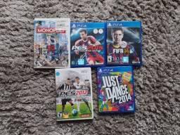 Jogos Wii e PS4