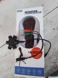 Microfone condensador,Cabo p2,compartilhamento de fones