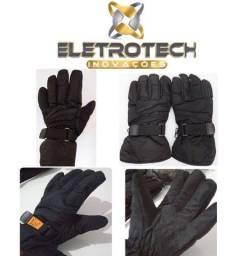 Luva para motociclista 100% Impermeável e forrada protegendo contra o frio