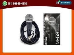 Título do anúncio: Microfone com fio M58 profissional