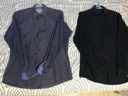 2 camisas sociais tamanho 2 - P