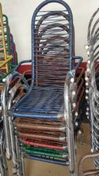 Cadeira de fibra tubo grosso