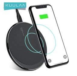 Título do anúncio: Carregador Kuulaa de 10W, carregamento sem fio para Iphone 8 e samsung s6 edge em diante