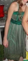 Vestido em tule verde