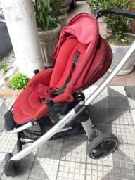 Carrinho de Bebê berço/passeio em Alumínio