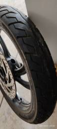 Rodas + pneus + disco de freio dianteiro  da fazer 250