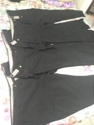 3 calça social tamanho 52 slim