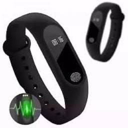 Relógio Pulseira Inteligente Monitor Cardíaco E Pressão M2