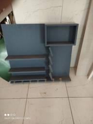 Bar azul e nichos variados em MDF.