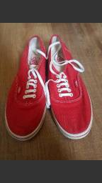 Tênis vermelho Vans Authentic Slim 37