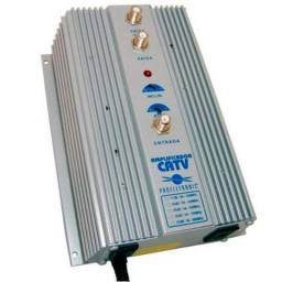 Pqap 6350 amplificador de sinal digital catv e vhf 35db proeletronic