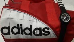 Kit Adidas Bolsa de Viagem mais relógio