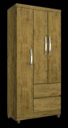 Roupeiro 3 portas 2 gavetas ( temos branco e rústico) _ pronta entrega