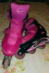 Roller rosa tamanho 37-40