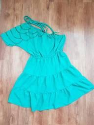 Vestido Verde Ombro Único