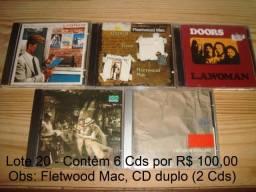 Supertramp, Fletwood Mac, Doors, Led Zeppelin, Steely Dan, Preço Lote 6 Cd usado excelent