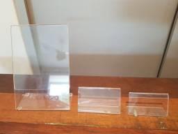 Kit com 48 displays de acrílico em 3 tamanhos
