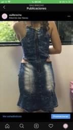 Vestido Jeans Tamanho M