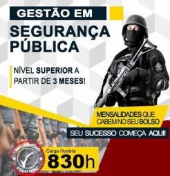 Promoção Especial 50%. Curso Superior em Gestão de Seg. Pública