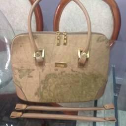 Bolsa em couro feminina Mônica Sanches