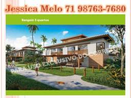 Casas Bangalôs 3/Q em Imbassai