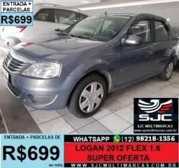 Logan 1.6 Flex 2012 Parcelas de 599 reais ao mês - 2012
