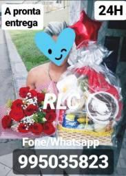 RLC cestas de café da manhã com flores especial RLC entrega imediata 24H