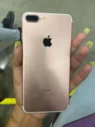 iPhone 7 Plus rose 128 , 10 meses de uso , com garantia até janeiro .