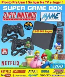 Super promoção game arcade tv box + 2 controles, entrega a domicilio gratis
