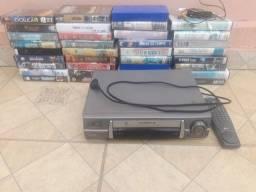 Vendo ou troco 2 video cassete com 90 fitas sou de franca
