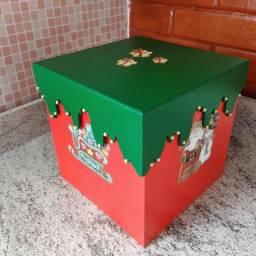 Caixa para panetone em mdf decorado