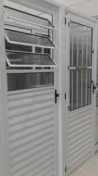 Portas de alumínio branco 2.10x80