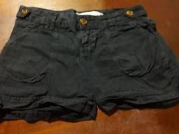 Shorts preto Tam 36