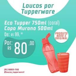 Tupperware Ecotupper + copo Murano.