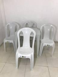 Título do anúncio: Jogo de Mesa c/4 Cadeiras Bistrô - Testadas em 152 kg