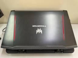 Título do anúncio: Acer Predator Helios 300 144hz Gtx 1060 i7 8ª Ph315-51-78np