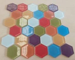 Título do anúncio: Pastilha de vidro Hexagonal -Segunda Linha