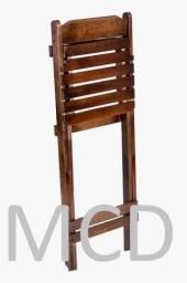 Cadeira dobrável em madeira maciça mista