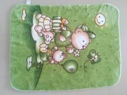 Cobertor dupla face super softy toque de seda