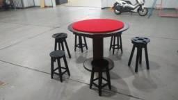 Mesa Carteado Tecido Vermelho Mod. NCGK9342