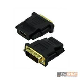 adaptador Conector Dvi  24+1 macho X Para Hdmi femea