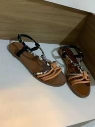 Calçados novos e semi-novos, tamanho 35!