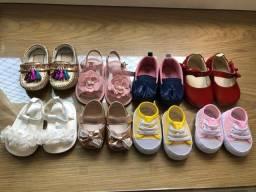 Sapatos de bebê menina