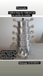 Jogo de Panelas Aluminio Batido