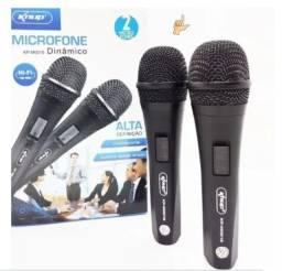Microfone 2 unidades Com Fio Profissional Modelo KP-M0015 - Knup