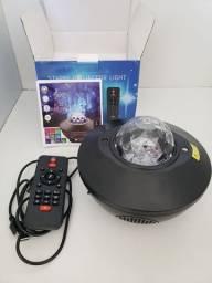 Projetor de estrelas e caixa de som Bluetooth